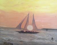 """Key West Sunset"" original fine art by J H Graves"