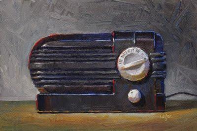 """Sears Silvertone Radio"" original fine art by Raymond Logan"