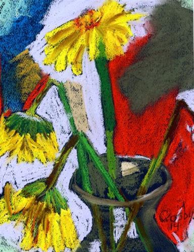 """Daisy Waning"" original fine art by Donna Crosby"
