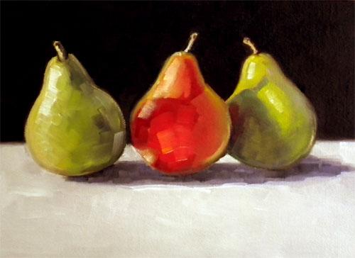 """""""Pear Revue"""" original fine art by Darla McDowell"""
