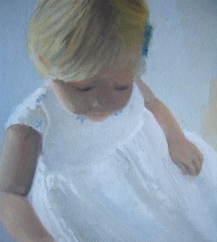 """Lucia being busy"" original fine art by Gloria  Nehf"