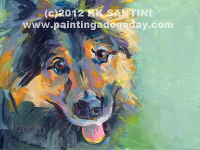 """Scully"" original fine art by Kimberly Santini"