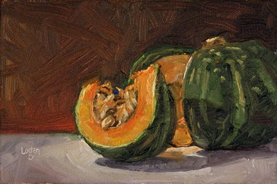 """Kabocha Squash"" original fine art by Raymond Logan"