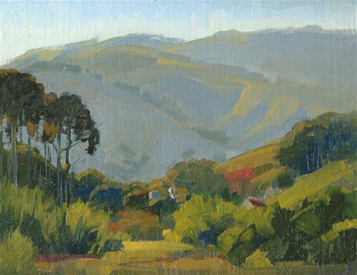 """Behind Mt. Tam"" original fine art by J. Thomas soltesz"