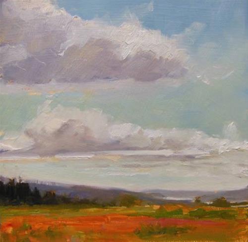 """Cloud Study  plein air landscape painting by Robin Weiss"" original fine art by Robin Weiss"
