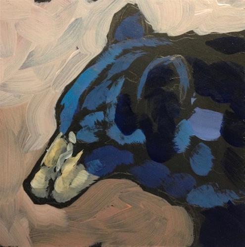 """Bearish Profile"" original fine art by Kat Corrigan"