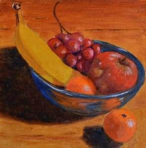 """Bowl of Fruit"" original fine art by Robert Frankis"