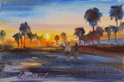 """Walking in Paradise - Day 3"" original fine art by Carol DeMumbrum"