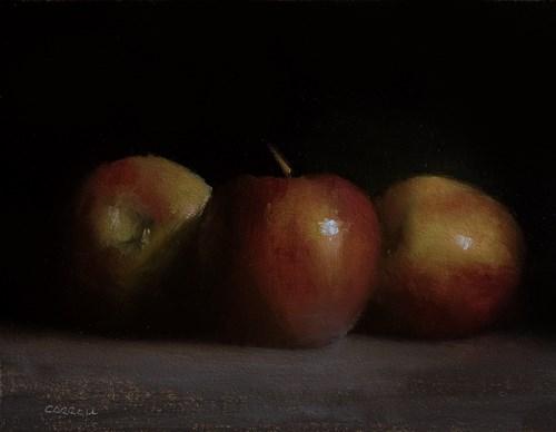 """Three Apples"" original fine art by Neil Carroll"