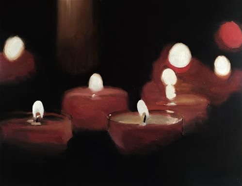 """Red Candles"" original fine art by James Coates"