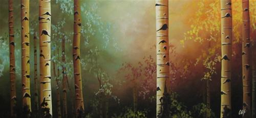 """Birch in the Midday Sun"" original fine art by ~ces~ Christine E. S. Code"