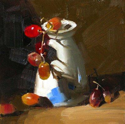 """""""Rock Climbers --- Sold"""" original fine art by Qiang Huang"""