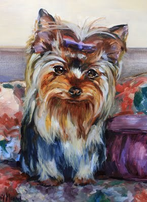 """A Step by Step Yorkie Portrait and Pardon Our Dust ~ Blogger Construction Zone!"" original fine art by Nancy Medina"