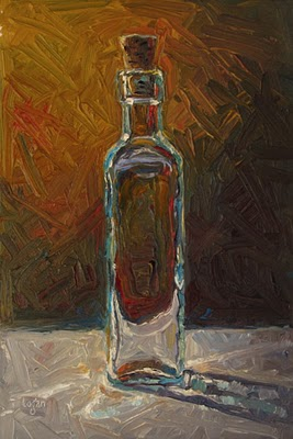 """Cork in Bottle"" original fine art by Raymond Logan"