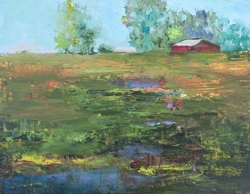 """Untitled Landscape, Contemporary Landscape Paintings by Arizona Artist Amy Whitehouse"" original fine art by Amy Whitehouse"