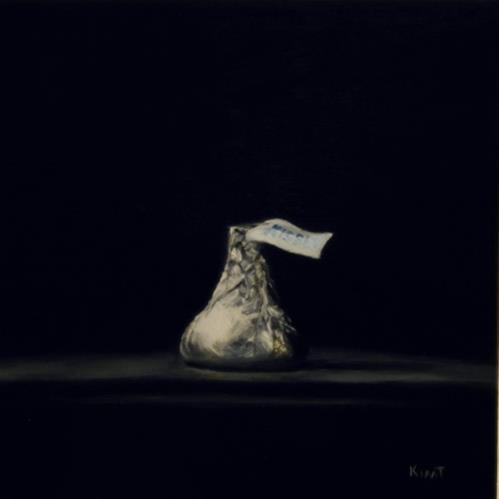 """Chocolate Kiss"" original fine art by Kim Testone"
