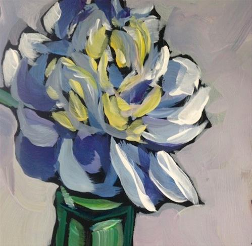 """Peony #1"" original fine art by Kat Corrigan"