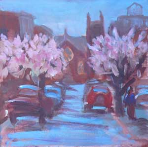 """Broughton Street"" original fine art by Darlene Young"