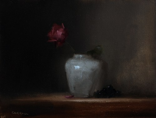 """Red Rose"" original fine art by Neil Carroll"