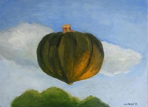 """""""Floating Acorn Squash"""" original fine art by Marie Lynch"""