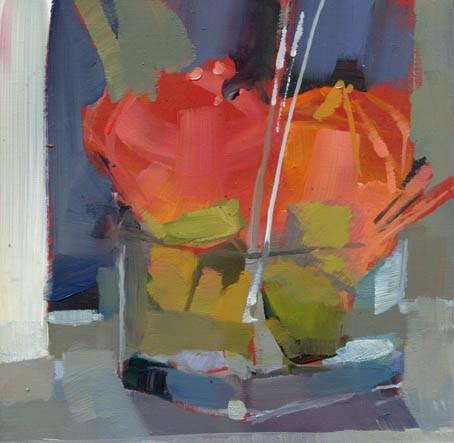 """1177 Three Blades of Grass"" original fine art by Lisa Daria"