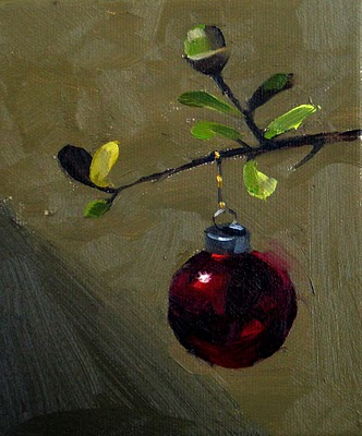 """Ornament on Oak --- Sold"" original fine art by Qiang Huang"