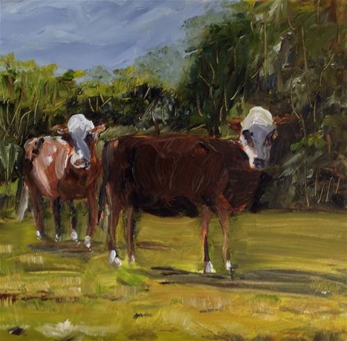 """Company's Coming"" original fine art by Debra Kennedy"