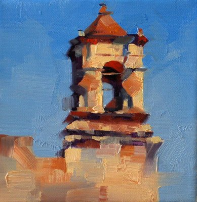 """Mission San Jose 1"" original fine art by Qiang Huang"