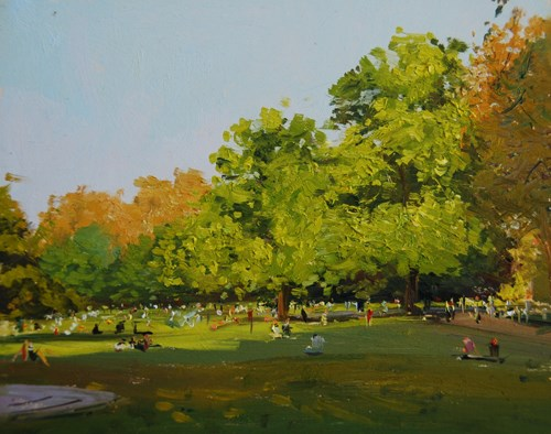 """Spring light, St James Park"" original fine art by Adebanji Alade"