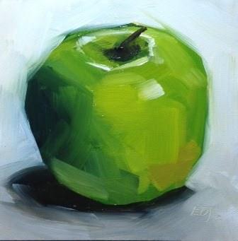 """""""12:5 - Saturday Night Apples"""" original fine art by Elizabeth Dawn Johnston"""