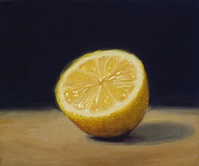 """Lemon Half"" original fine art by Abbey Ryan"