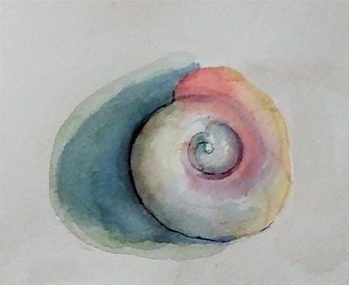 """study-tiny shell"" original fine art by Mitsuru Cope"