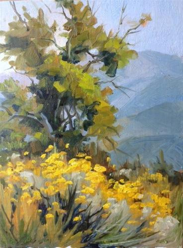 """Valyermo Bloom"" original fine art by gabriele baber"