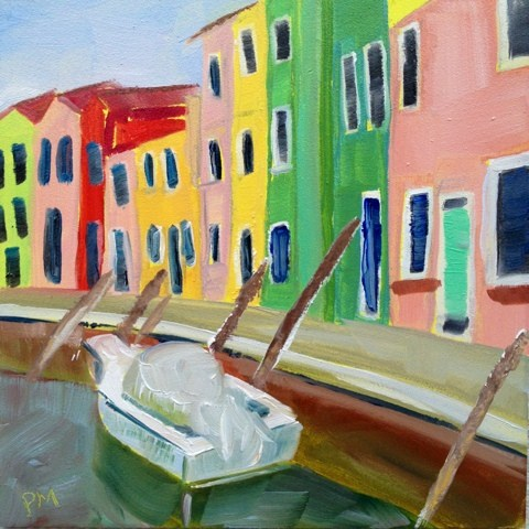 """Burano"" original fine art by Piya Samant"