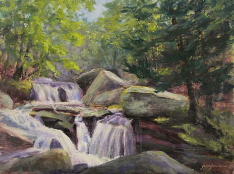 """Platte Clove Cascade and Olana Workshop"" original fine art by Jamie Williams Grossman"