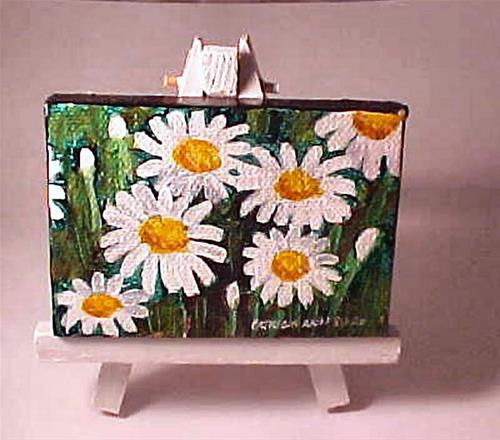 """Mini Daisies"" original fine art by Patricia Ann Rizzo"