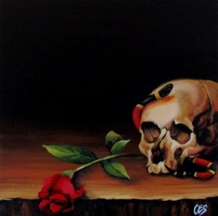"""Dying For Beauty"" original fine art by ~ces~ Christine E. S. Code"