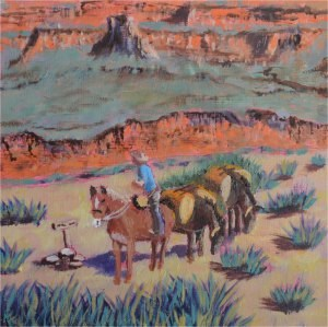 """""""Lunch With a View"""" original fine art by Robert Frankis"""