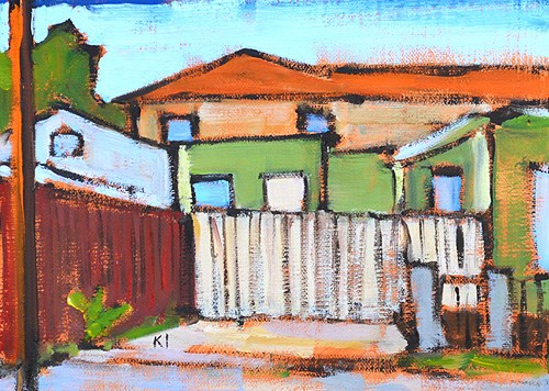 """House Next Door"" original fine art by Kevin Inman"