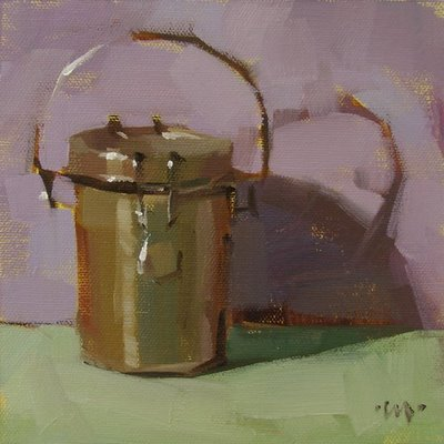 """Color Can"" original fine art by Carol Marine"