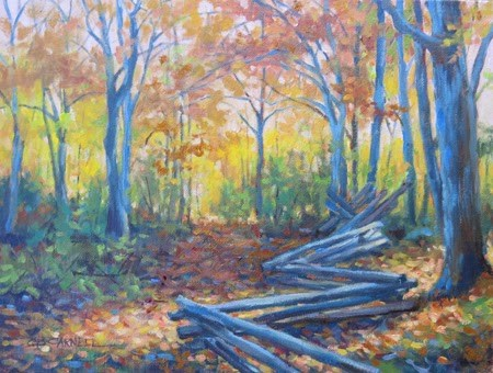 """'Deep in the Woods' An Original Oil Painting by Claire Beadon Carnell"" original fine art by Claire Beadon Carnell"