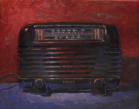 """Jeff's Old Philco"" original fine art by Raymond Logan"