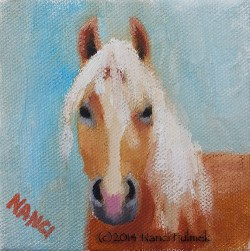 """Palomino 4×4"" original fine art by Nanci Fulmek"