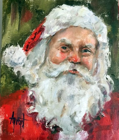 """HOHOHO"" original fine art by Anne Marie Propst"