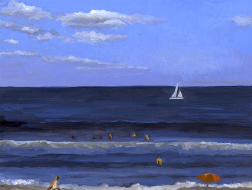 """SAILING BY"" original fine art by Nancy Herman"