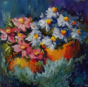 """Painted Daisies"" original fine art by Alice Harpel"