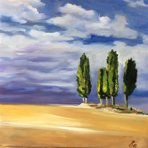 """Tuscany"" original fine art by Sonja Neumann"