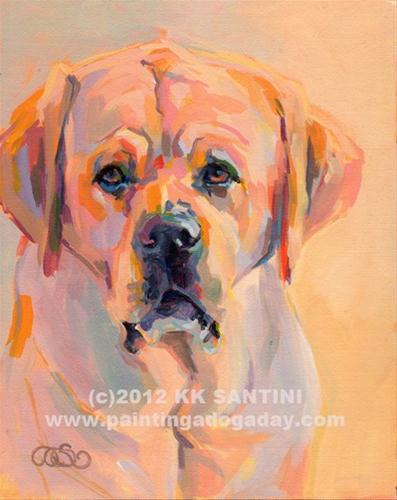 """Oliver"" original fine art by Kimberly Santini"