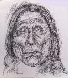 """Indian Portrait"" original fine art by Rick Blankenship"