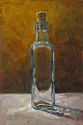 """Bottle with Cork"" original fine art by Raymond Logan"